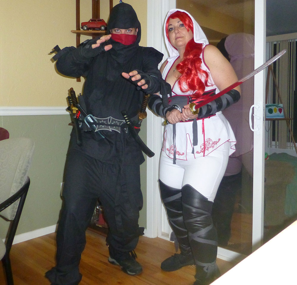 Jackie and Justin as ninjas